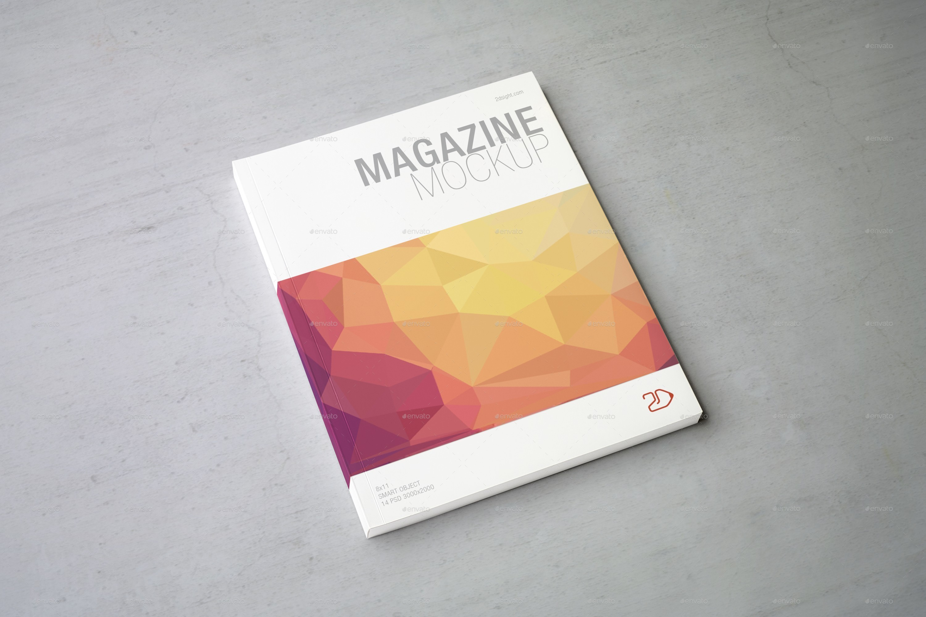 Magazine Mockup / Letter Size by 2dsight | GraphicRiver