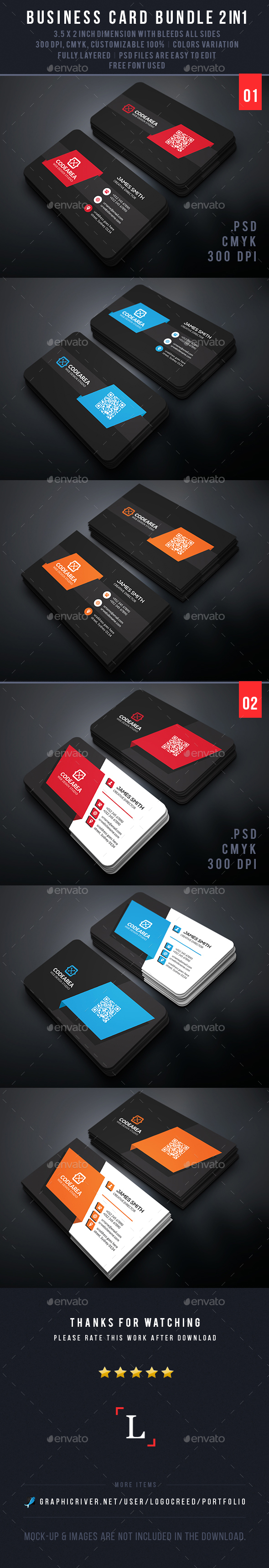Shape Business Card Bundle - Business Cards Print Templates