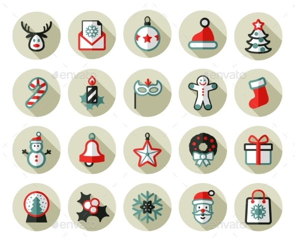 Christmas Icons Set. Holiday Objects Collection. - Christmas Seasons/Holidays