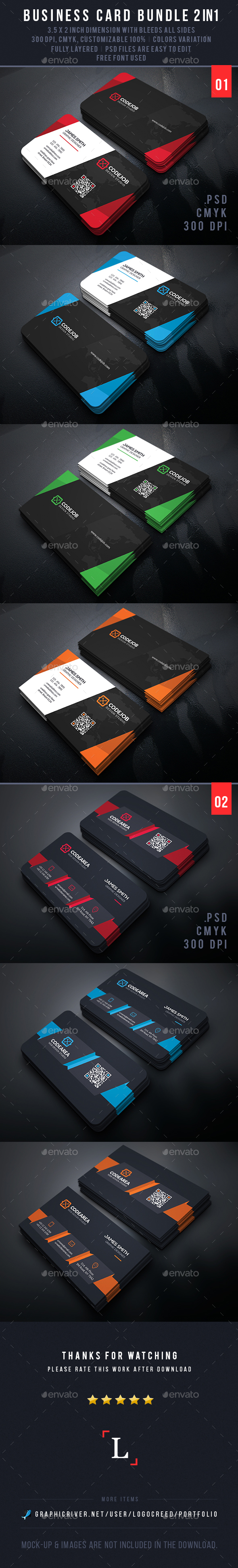 Design Business Card Bundle - Business Cards Print Templates