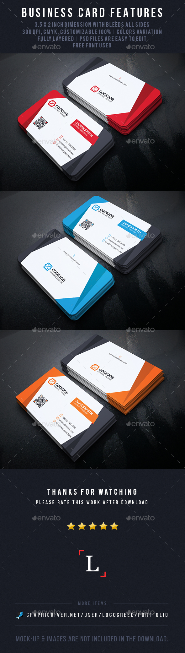 Clean Creative Business Cards - Business Cards Print Templates