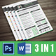 Creative Professional Resume CV + Cover Letter + Portfolio - GraphicRiver Item for Sale