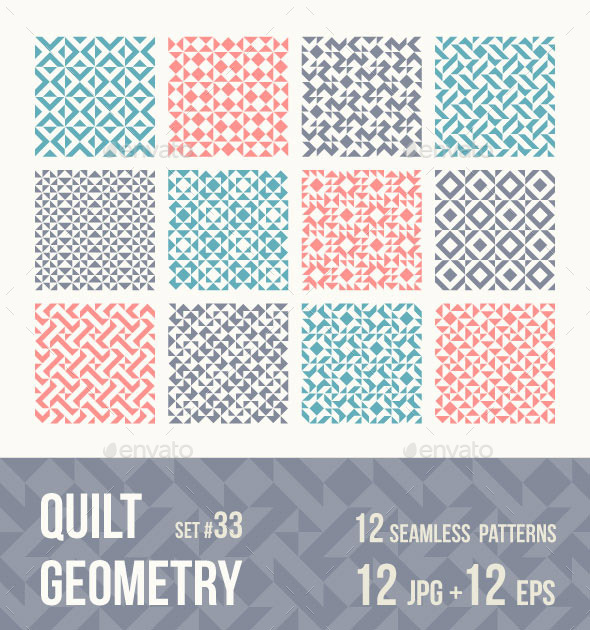 12 Tileable Geometric Patterns - Patterns Backgrounds