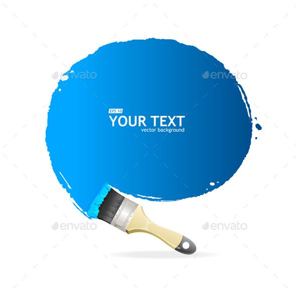 Brush Speech Bubble. Vector - Communications Technology