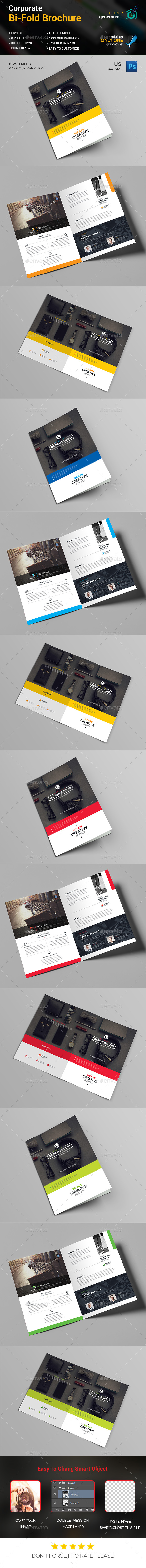 Bi-Fold Business Brochure Template - Corporate Brochures