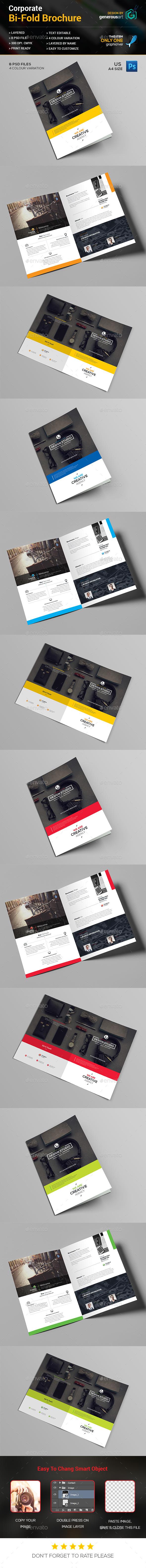 Bi-Fold Business Brochure Template - Corporate Brochures