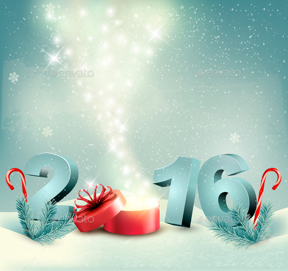 Happy New Year 2016 New Year Design Template  - New Year Seasons/Holidays