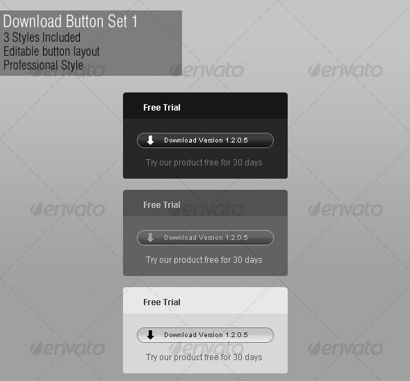 Professional Download Button - Buttons Web Elements