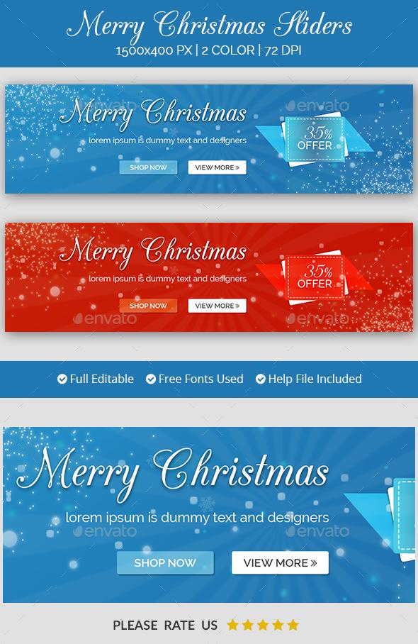 Christmas Sale Sliders - Sliders & Features Web Elements