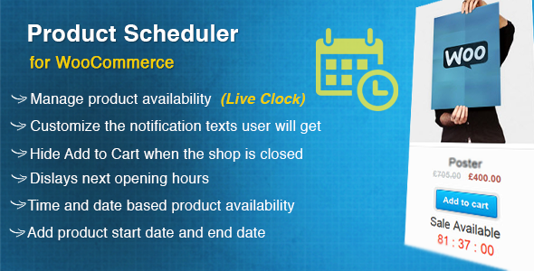 WooCommerce Product Scheduler - CodeCanyon Item for Sale