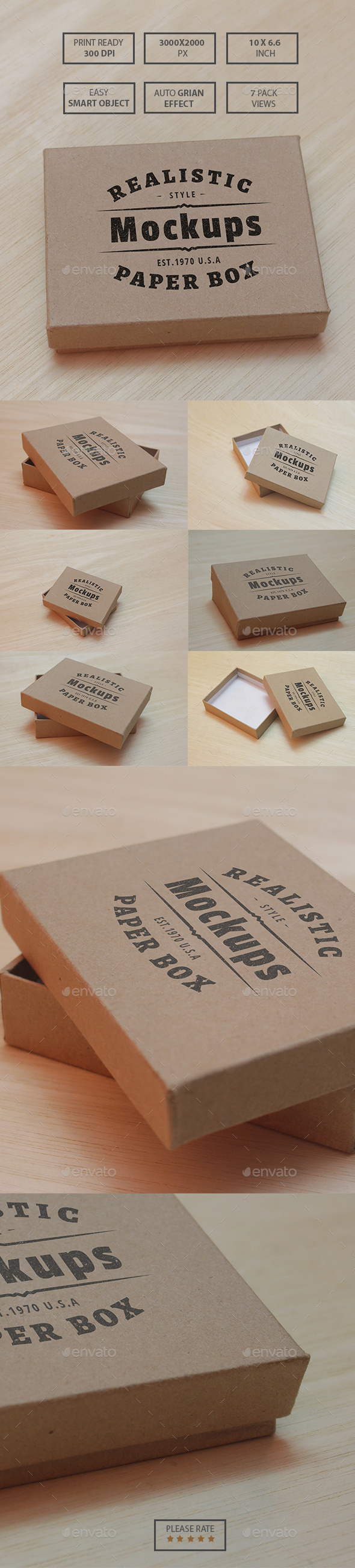 Paper Box Realistic Mockups - Product Mock-Ups Graphics