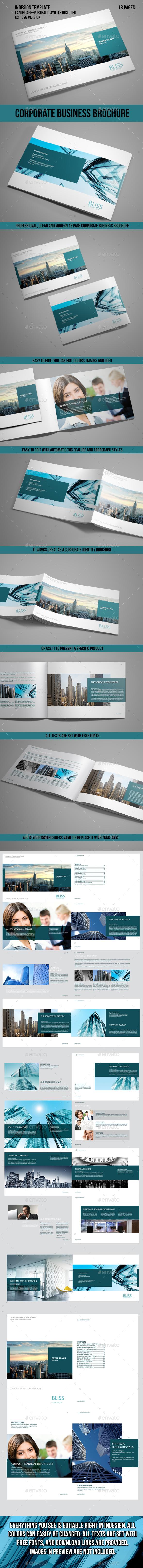 Corporate Business Brochure Indesign Template - Corporate Brochures