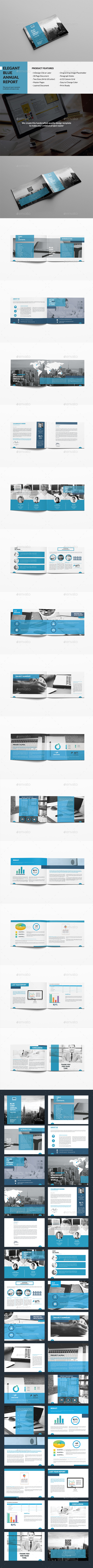 Elegant Blue Annual Report - Corporate Brochures