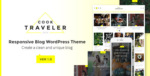 Cook Traveler – Responsive Blog WordPress Theme