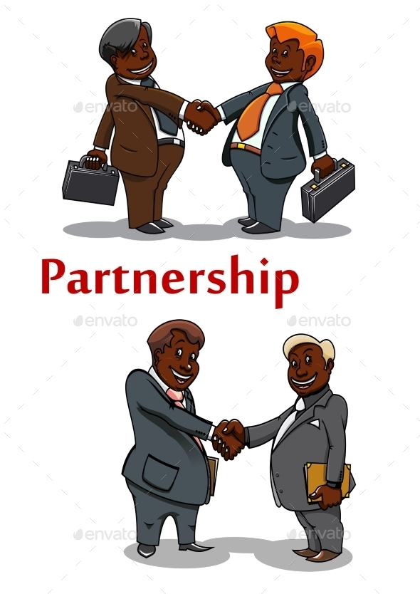 Business Handshakes Of Happy Businessmen - Concepts Business