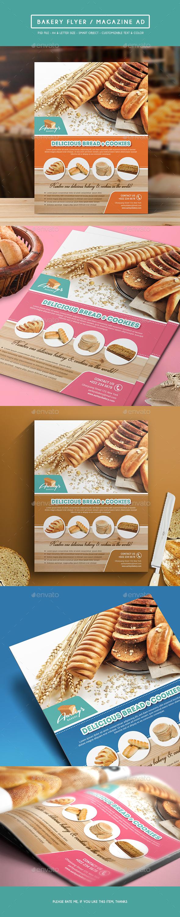 Bakery Flyer / Magazine Ad - Commerce Flyers
