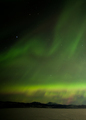 Northern Lights dancing over frozen Lake Laberge Yukon Canada - PhotoDune Item for Sale