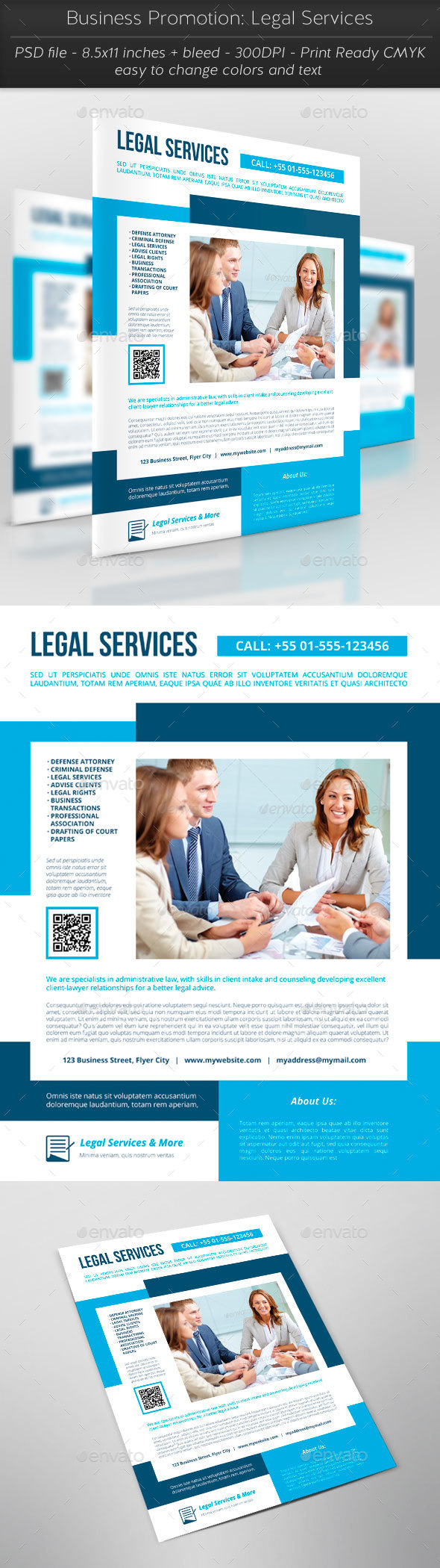 Business Promotion: Legal Services - Flyers Print Templates