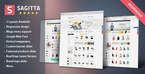 Sagitta - Responsive eCommerce HTML Template - Fashion Retail