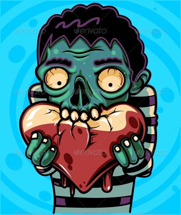 Zombie Love - Characters Vectors
