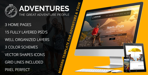 Adventures – Adventures and Tour PSD Template