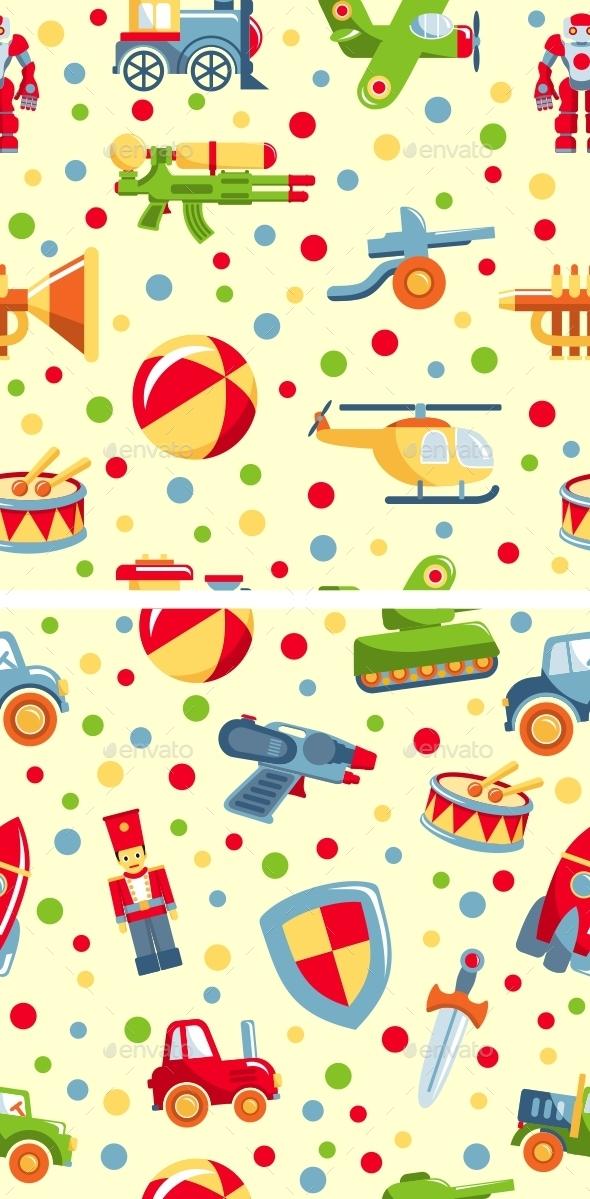 Seamless Toys Pattern - Patterns Decorative