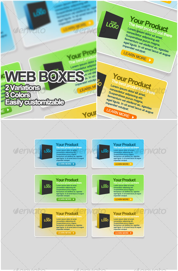 Web boxes elements - Web Elements
