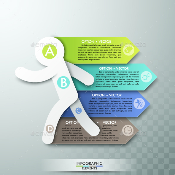Modern Infographic Paper Man Template - Infographics