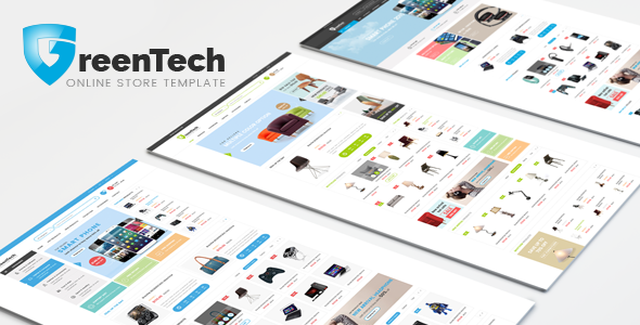 Greentech Responsive Shopping Bootstrap Template By Hastech