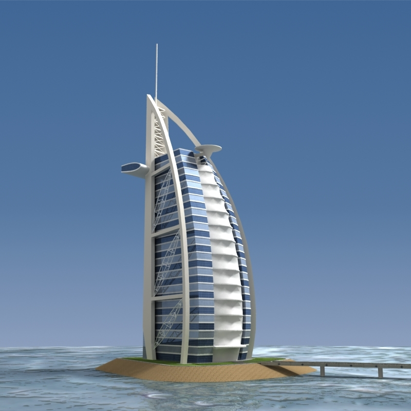 Burj al arab by 3dhorizon 3docean Burj al arab architecture