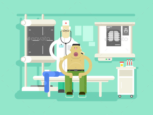 Patient And Doctor Character - Health/Medicine Conceptual