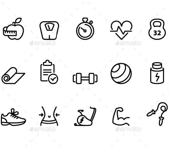 Fitness icons - Icons