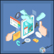 Isometric Tablet Mobile Services Concept - GraphicRiver Item for Sale