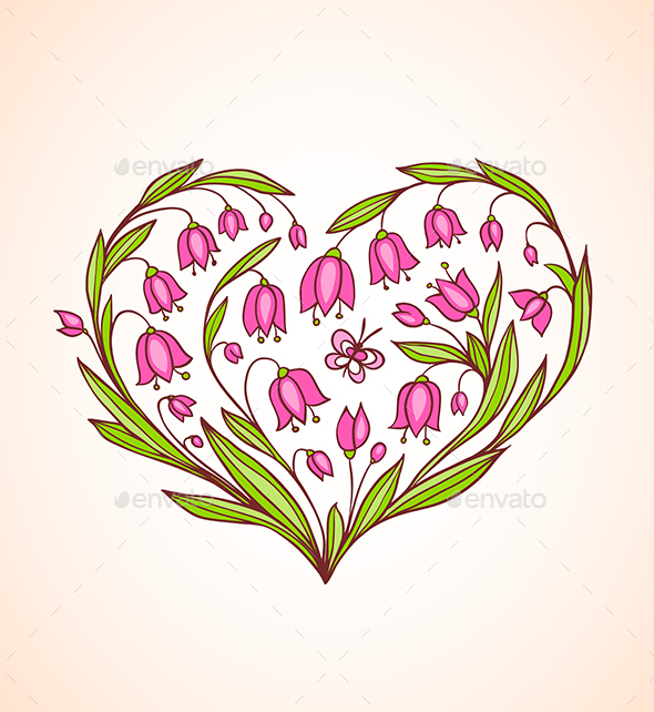 Decorative Floral Heart - Valentines Seasons/Holidays