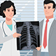 Cartoon Clinic / Male Patient With Chest X-ray - VideoHive Item for Sale