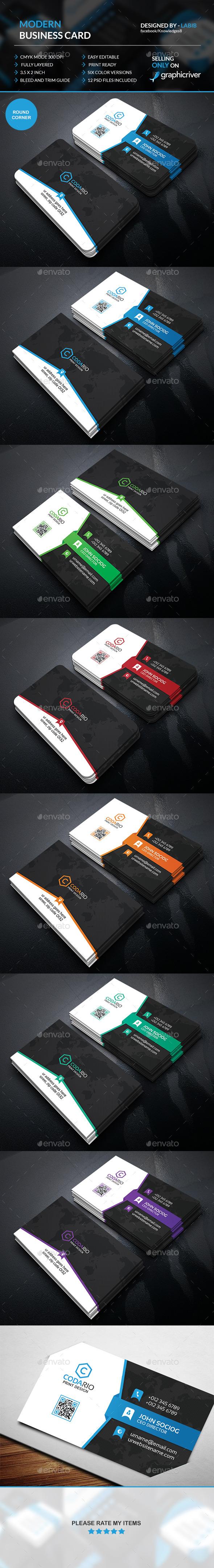 Modern Corporate Business Card  - Creative Business Cards