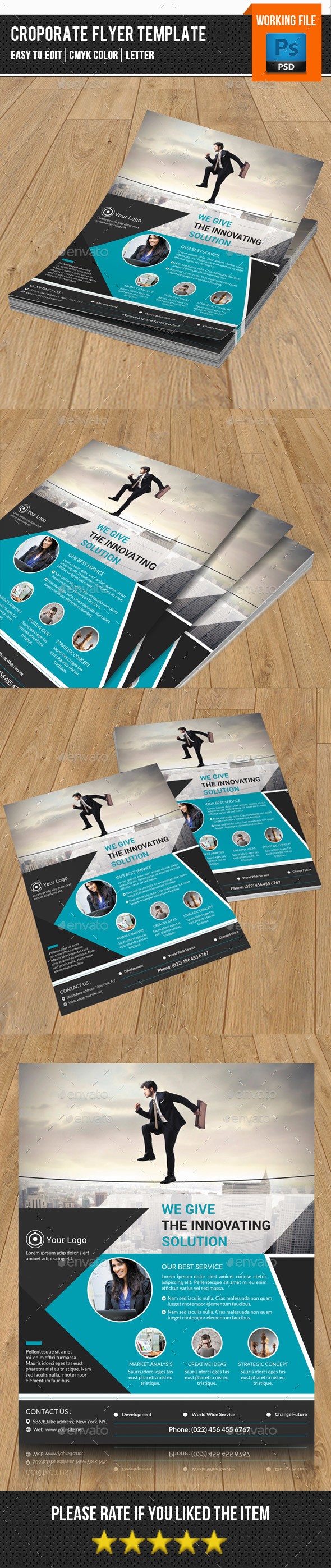 Corporate Flyer Template-V127 - Corporate Flyers