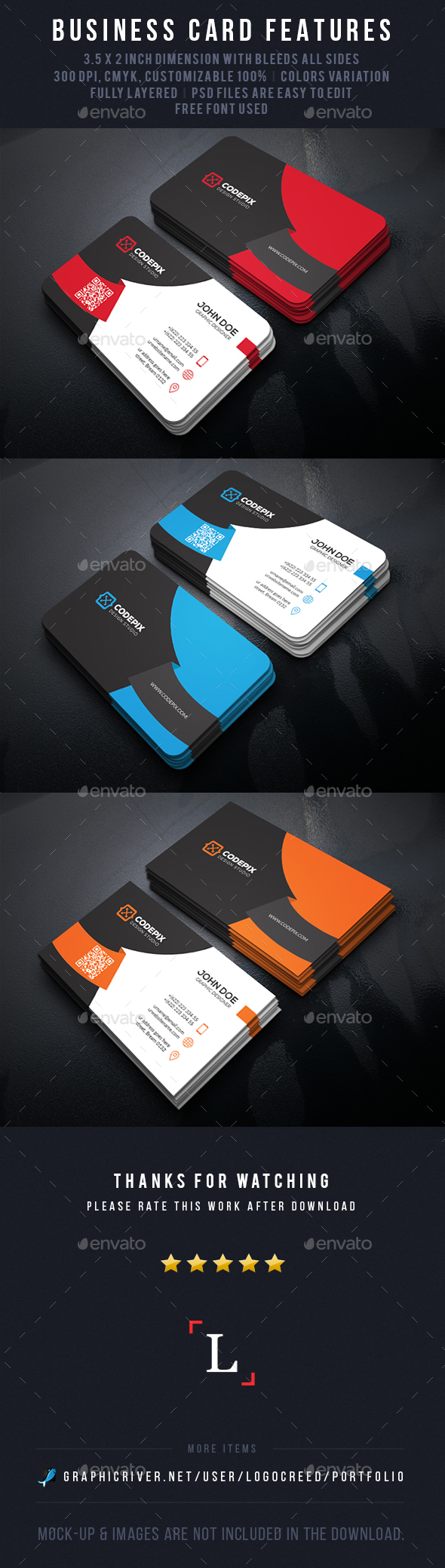 Curve Corporate Business Card - Business Cards Print Templates