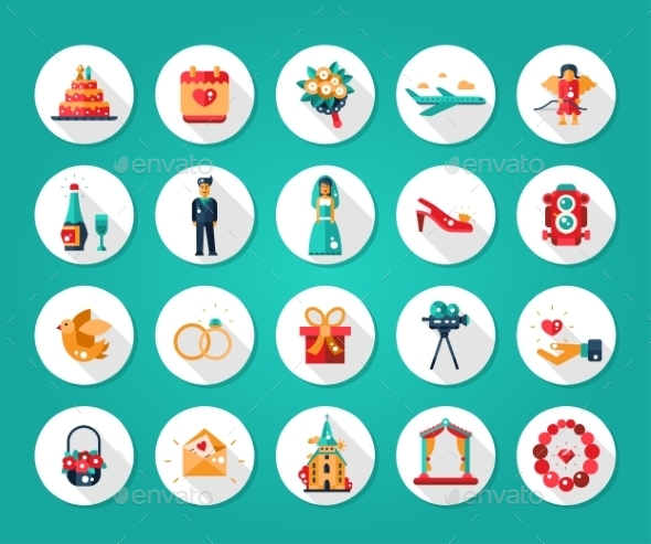 Wedding and Marriage Icons - Weddings Seasons/Holidays