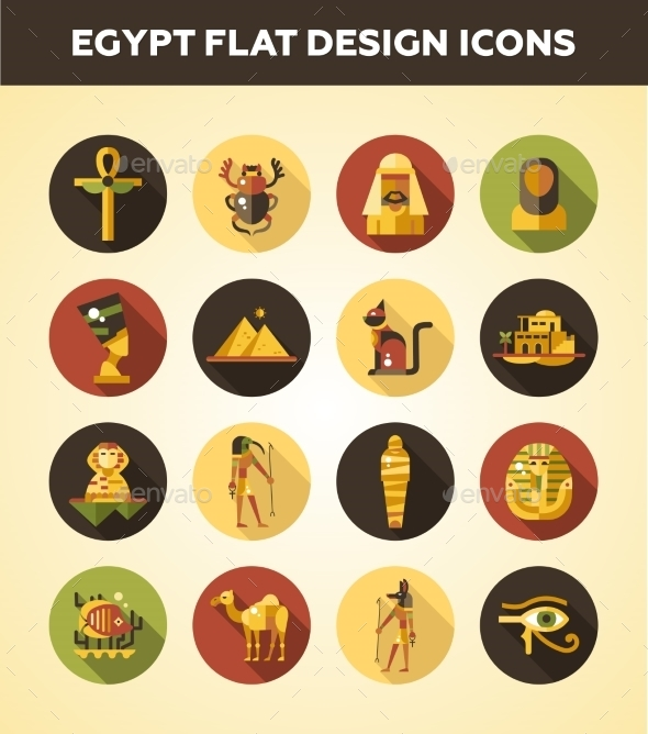 Egypt Travel Icons - Travel Conceptual