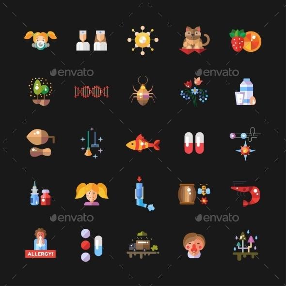 Allergen Icons - Health/Medicine Conceptual