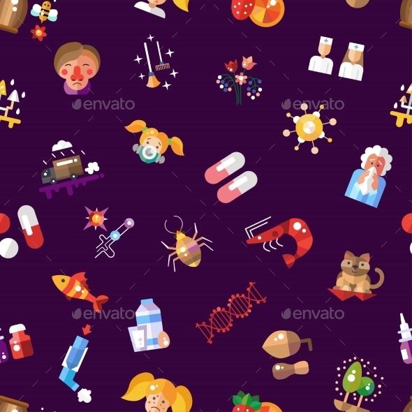 Allergy Pattern - Health/Medicine Conceptual