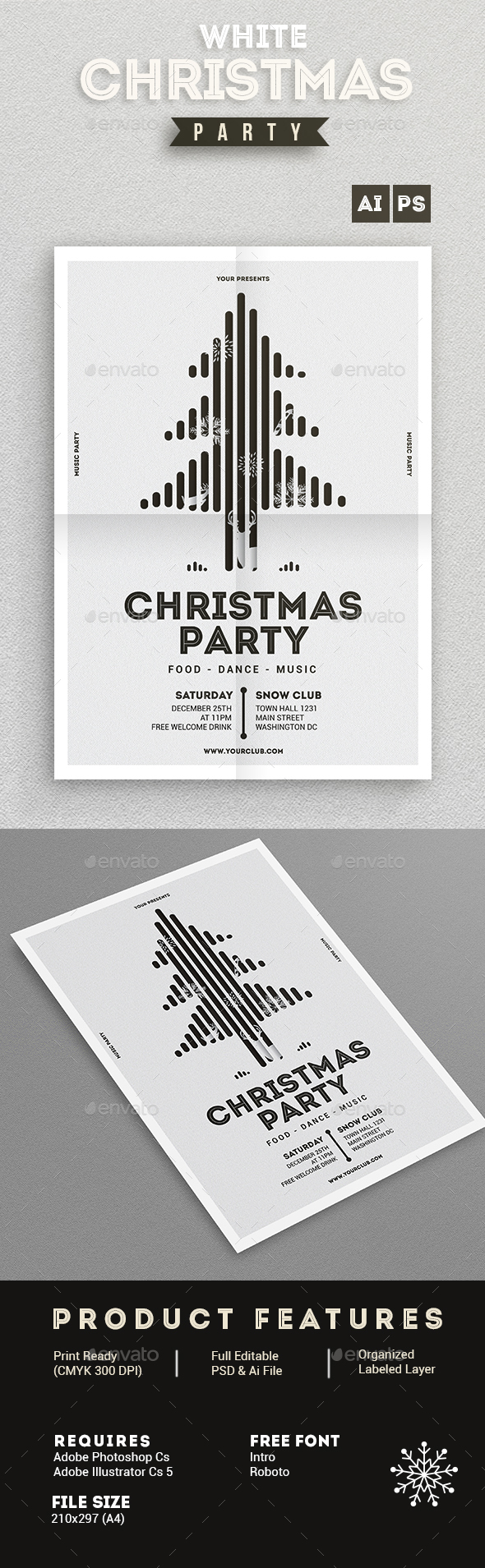White Christmas Party Vol.01 - Events Flyers