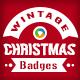 Vintage Christmas Badges - 10 Designs