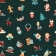 Christmas and Happy New Year Pattern - GraphicRiver Item for Sale