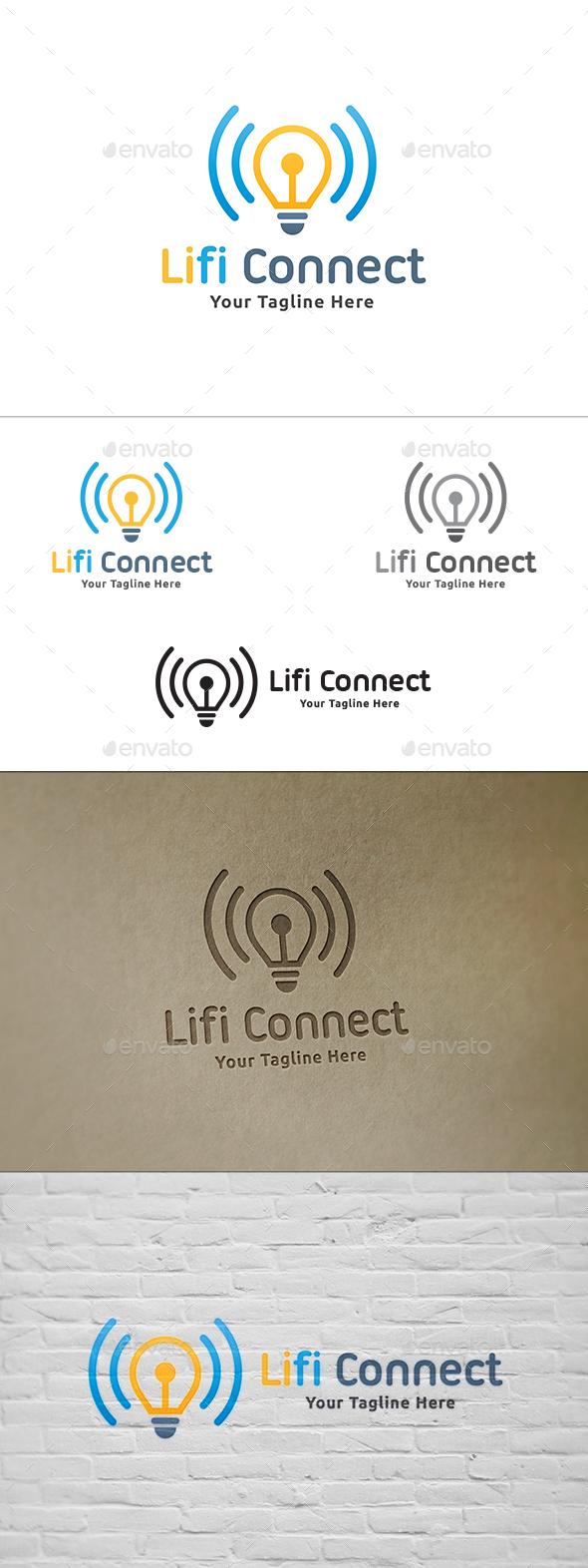 Li-fi Connect Logo - Symbols Logo Templates