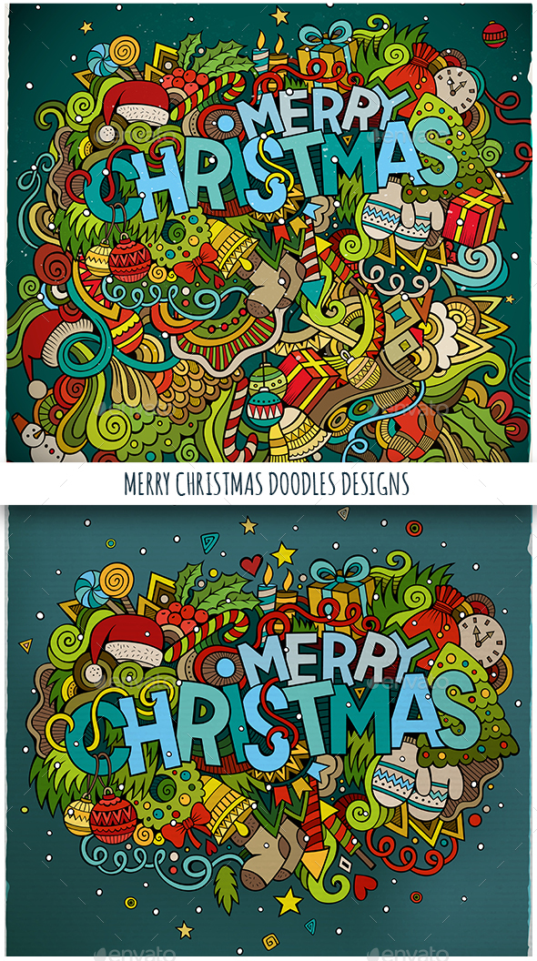 Merry Christmas Doodles Designs - Christmas Seasons/Holidays