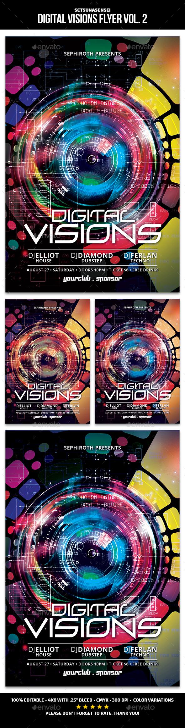 Digital Visions Flyer Vol. 2 - Clubs & Parties Events