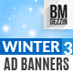 Winter Sale Banner Ads - GraphicRiver Item for Sale