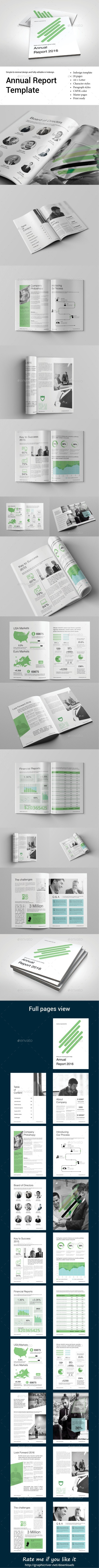 Annual Report Template - Brochures Print Templates